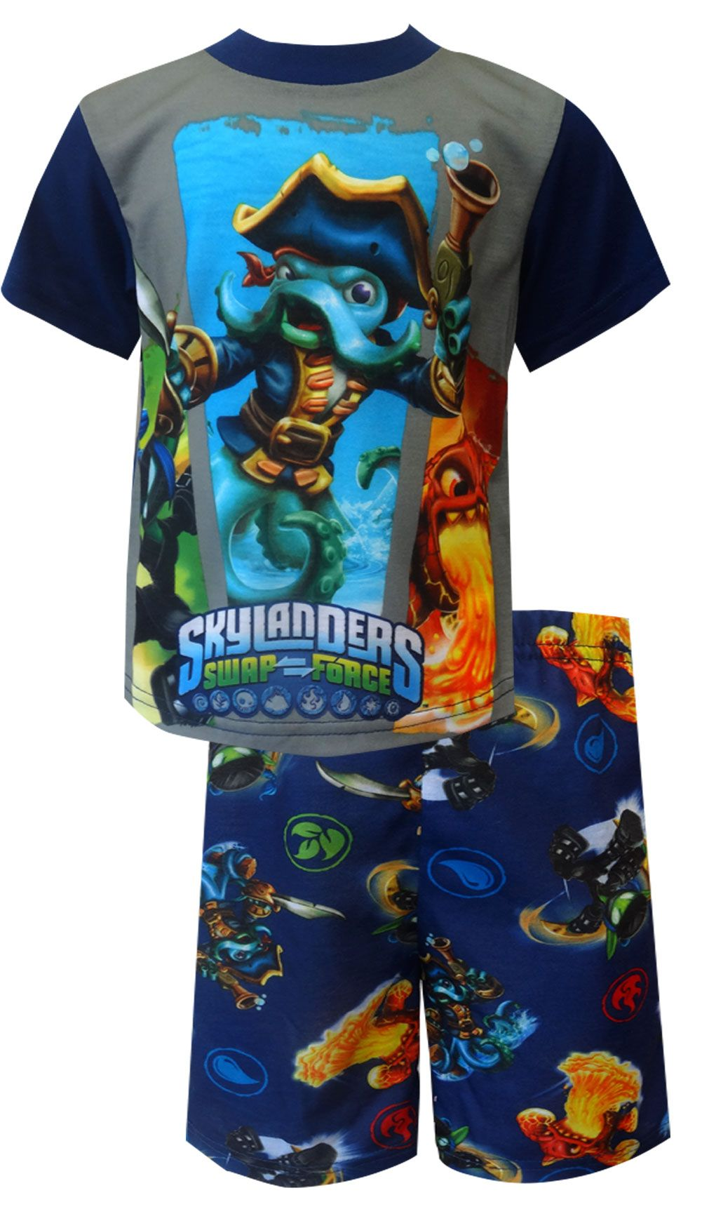 6016d5975 Skylanders Swap Force Ninja Stealth Elf and Wash Buckler Pajamas He will  love playing his favorite video game in these pajamas!