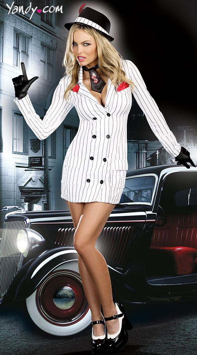 Smooth Criminal Costume, Pinstripe Gangster Costume, Striped ...