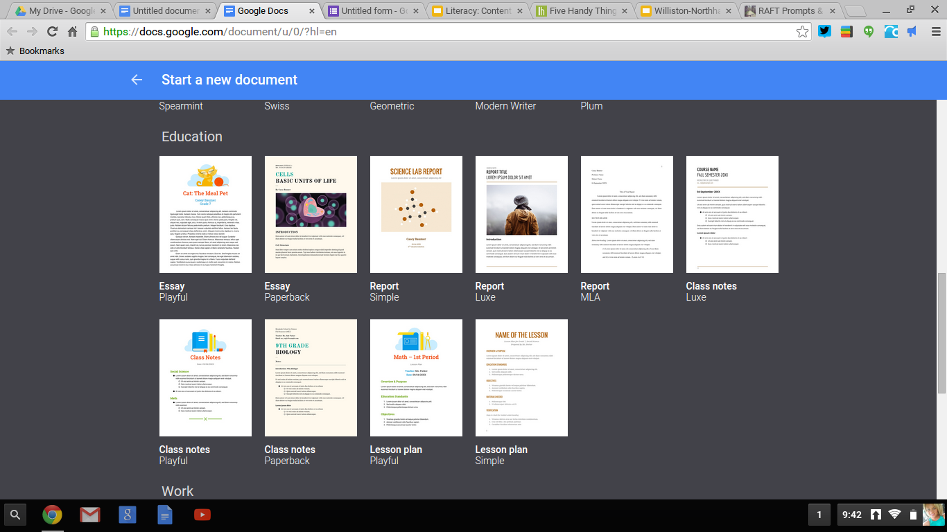 google docs pamphlet template