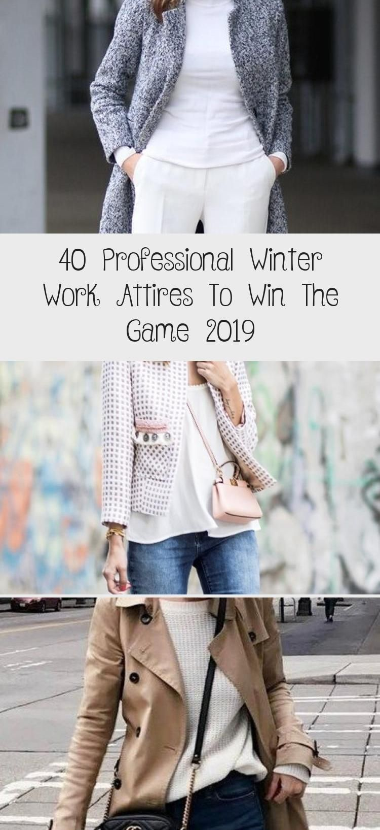 40 Professional Winter Work Attires To Win The Game 2019 - OUTFIT ,  #Attires #corporateattir... #businessattireforyoungwomen
