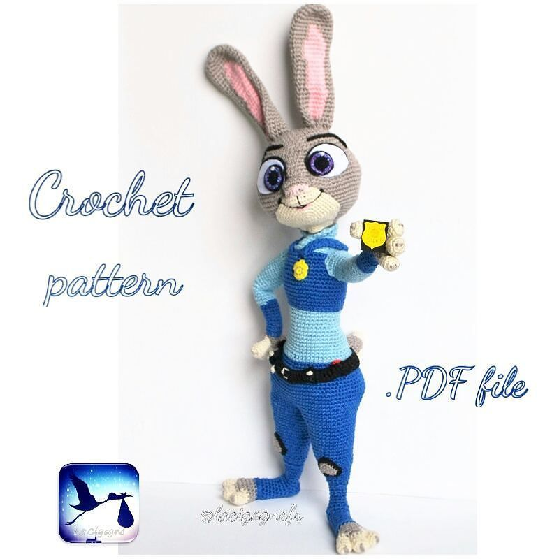 Hello! Judy Hopps Zootopia pattern is ready. You can find it in ...