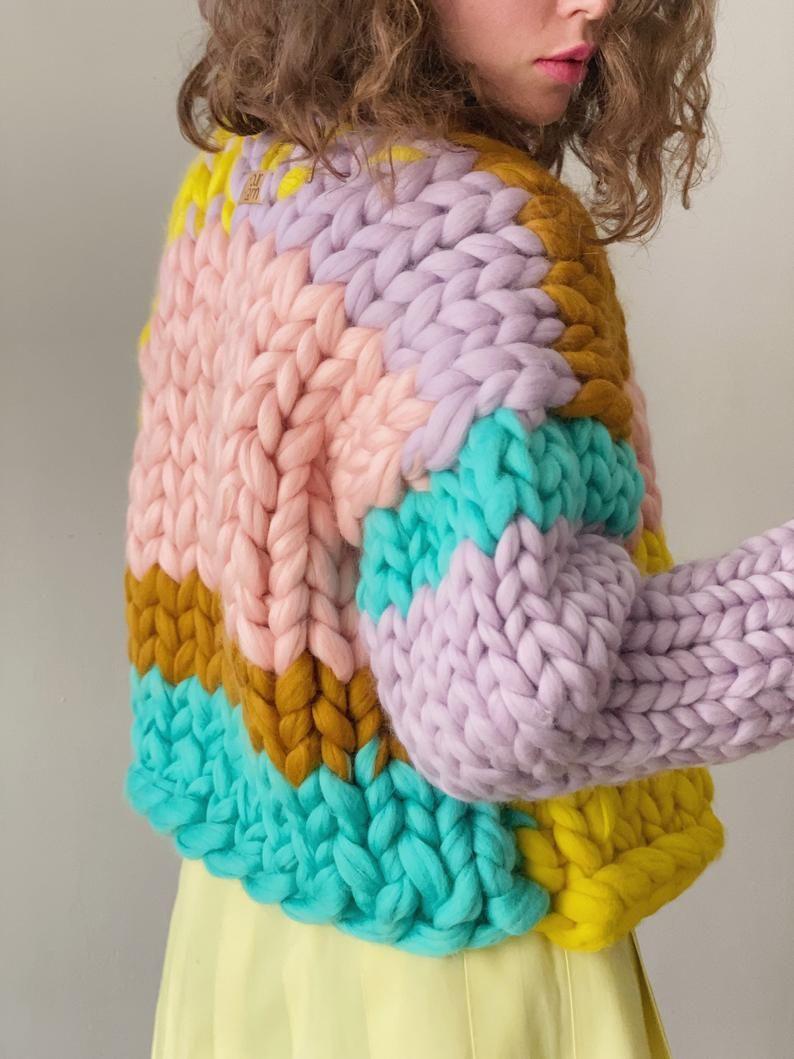 Knit Jacket Cardigan Luxury Chunky Knit Sweater Jacket Valentines