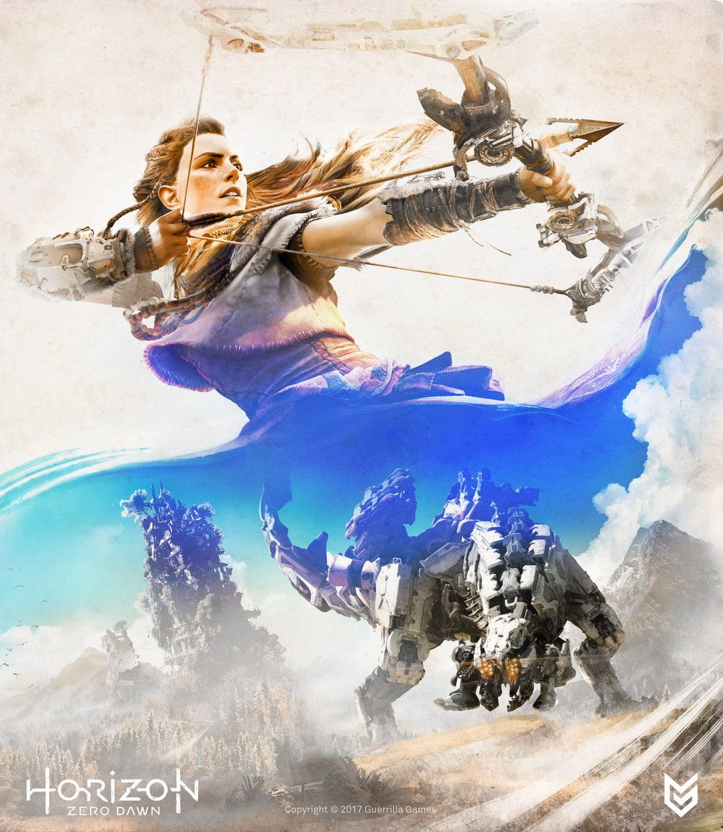 Artstation Horizon Zero Dawn Key Art Ilya Golitsyn Horizon