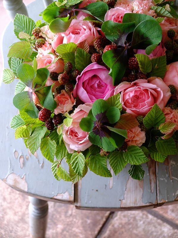 Roses & berries. Fleurs tremolo