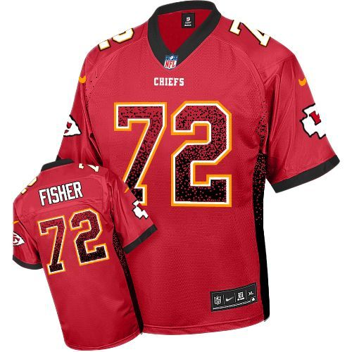 e86e97650  24.99 Nike Limited Eric Fisher Red Men s Jersey - Kansas City Chiefs  72  NFL Drift