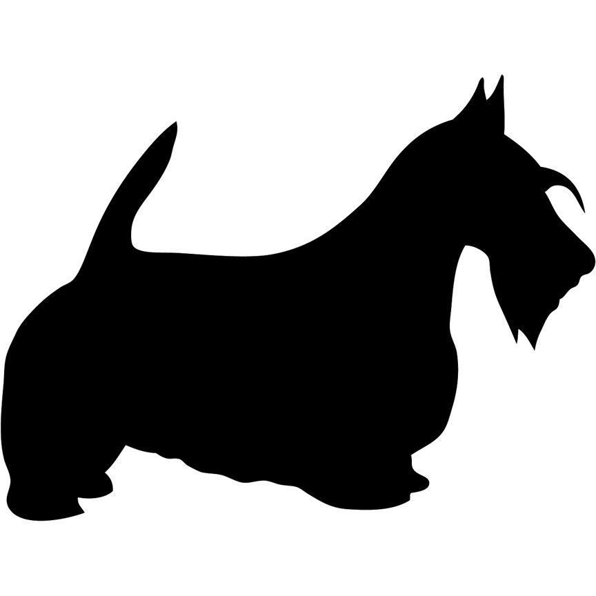 Scottish Terrier Scottie Dog Solid Unfinished Wood Shape Cutout for DIY Craft