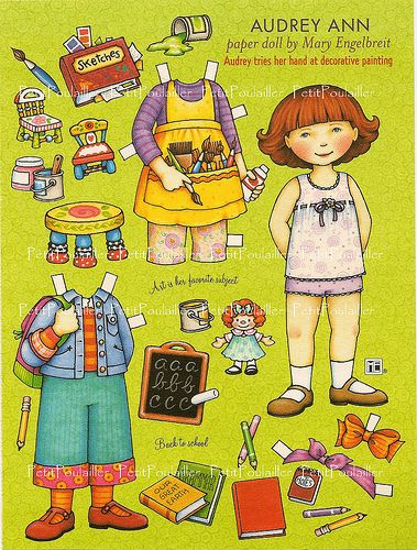 PetitPoulailler Mary Engelbreit Paper Doll, Audrey Ann   von Le Petit Poulailler