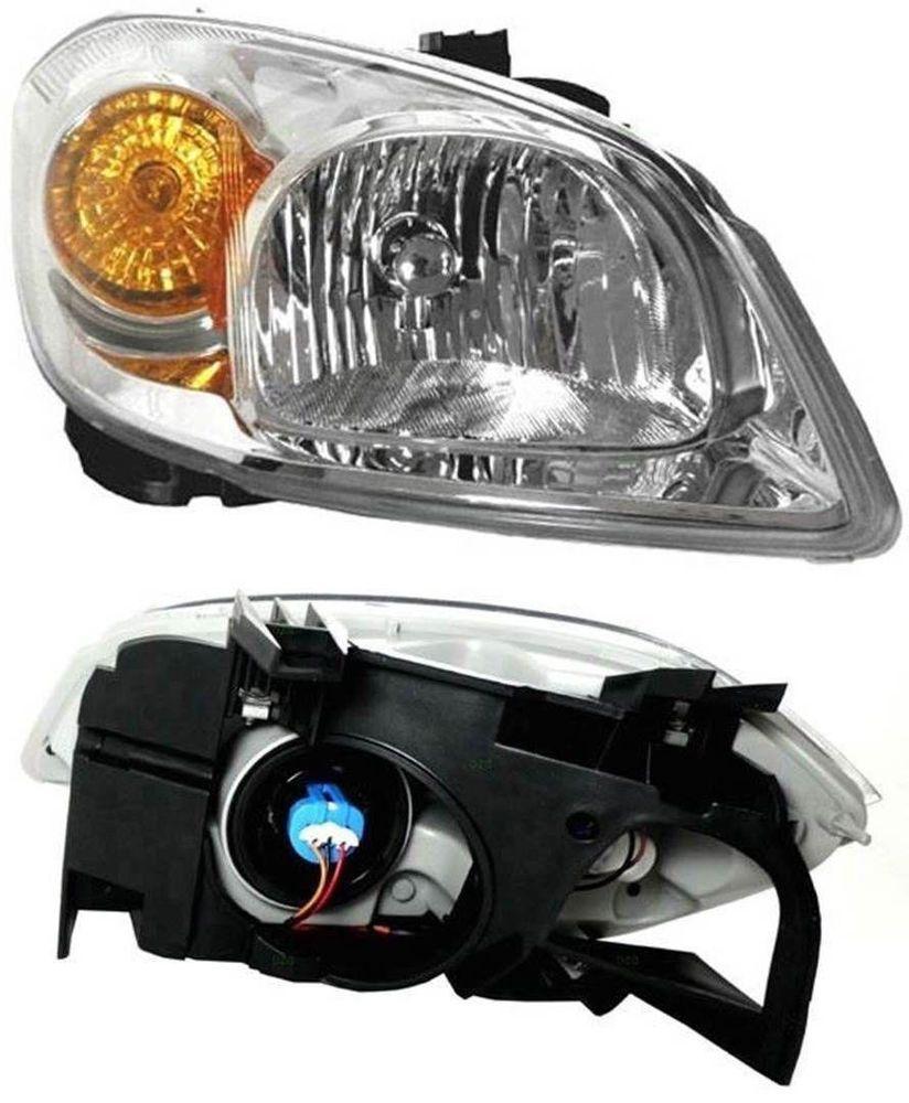 Headlight Headlamp Chevy Cobalt Pontiac G5 W Bracket Clear Lens Driver Side Rh Chevy Cobalt Pontiac G5 Pontiac
