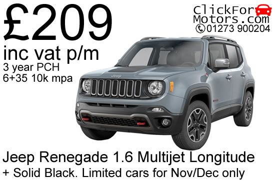 Jeep Renegade 1 6 Longitude Maual Stock Lease Offer Uk Car Lease