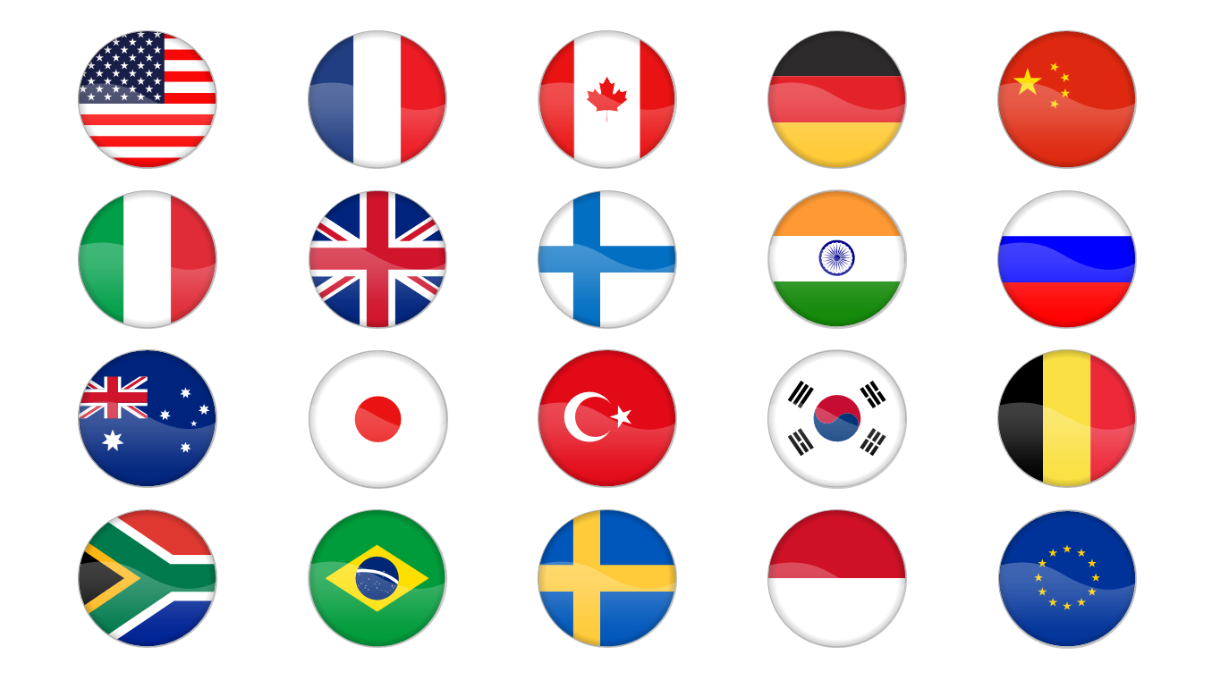We have updated the bundle with nice Country Flag Icons