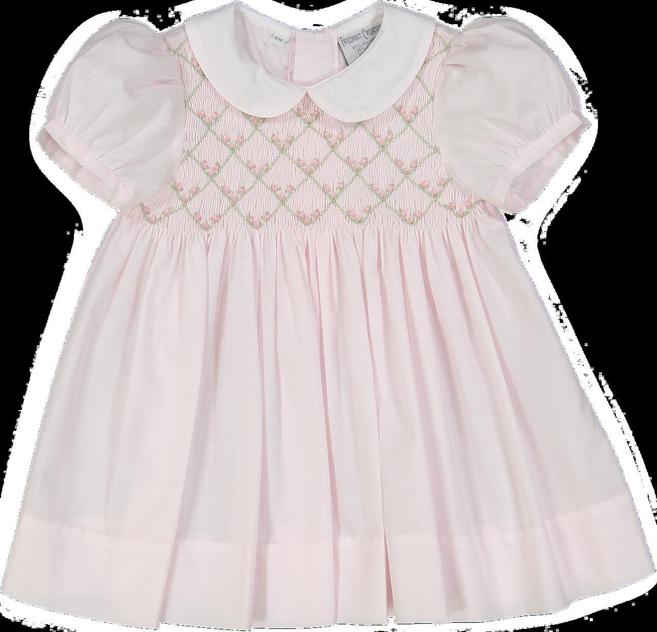 FREE SHIPPING Smocked Dress Smocked Rosebud Dress
