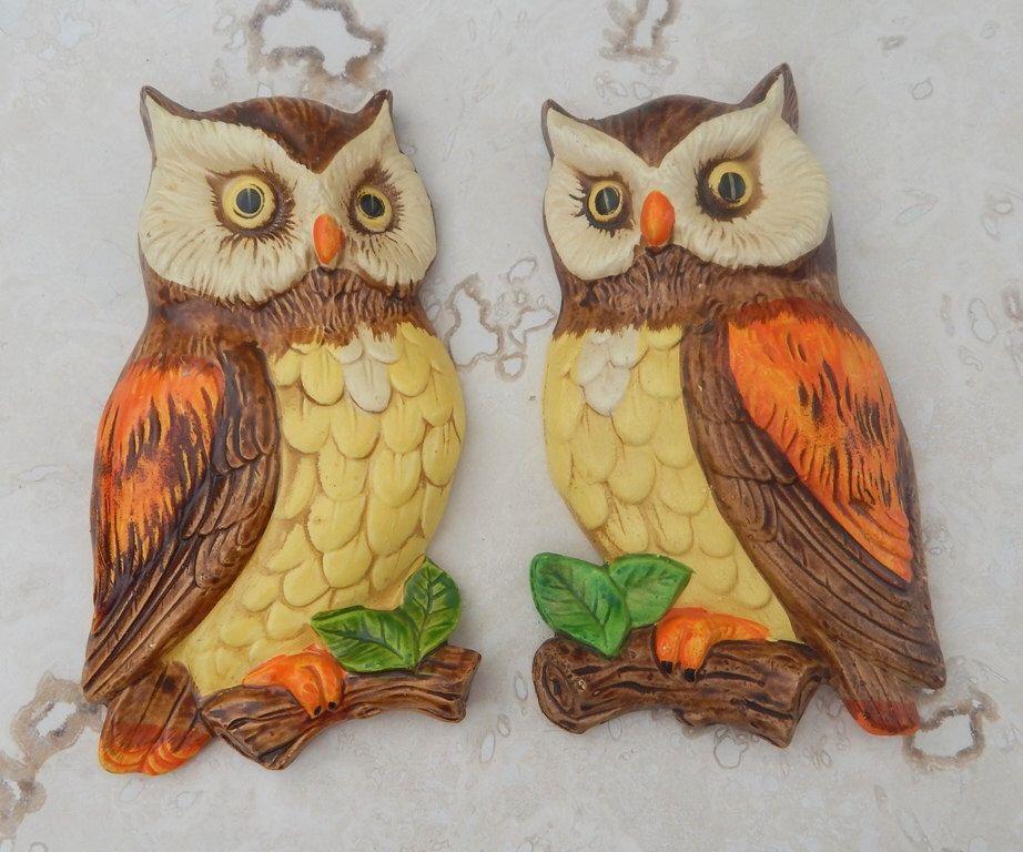 Lefton Owl Wall Hangings -- Lefton Owl Wall Plaques -- Lefton ...