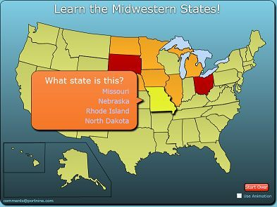 Learn The States And Capitals Game