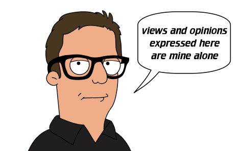 My new blog site, home page cartoon of me (Lee Wilson) with speech bubble saying 'views and opinions expressed here are mine alone' http://leewilsonaccess.wordpress.com/