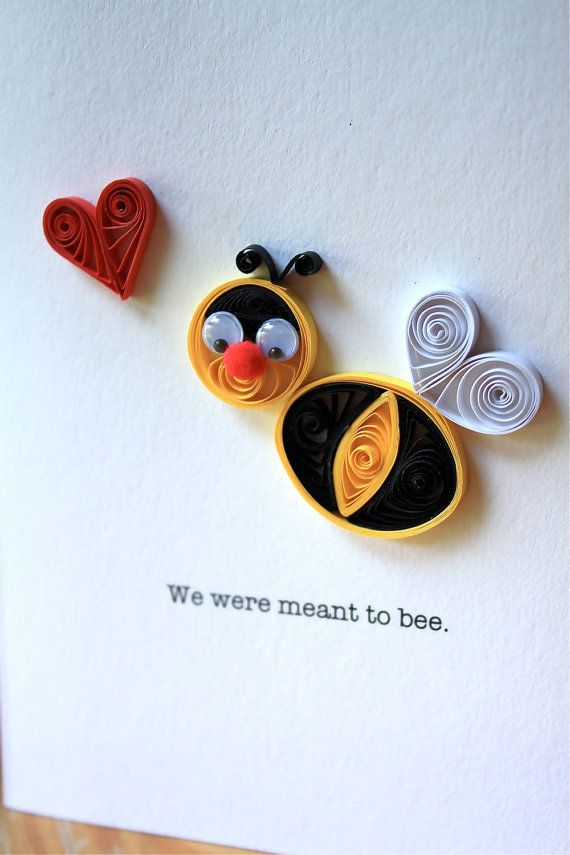 Quilled Bumble Bee Card