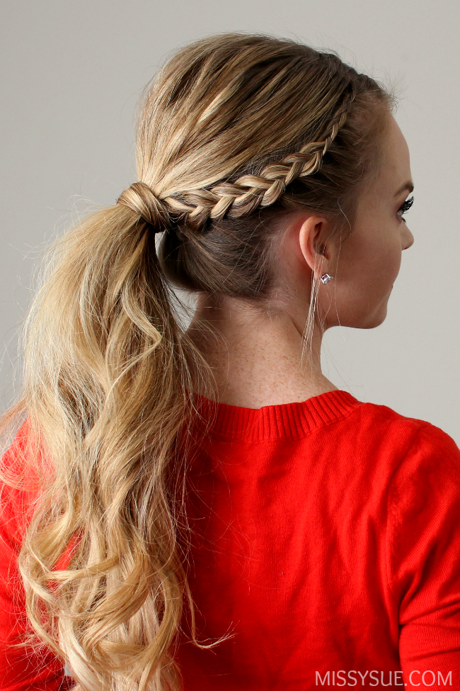 ec1db9b26 Dutch Lace Braid Ponytail | Hair Tutorials | Braided ponytail ...
