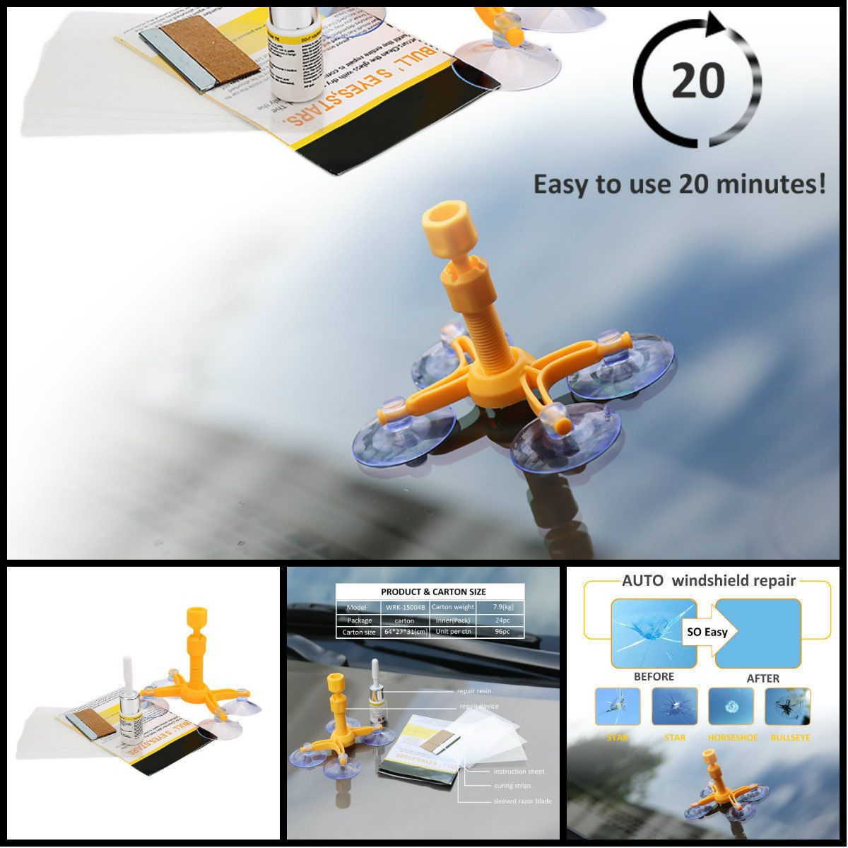 Get The Ultra Repair Kit Can Repair Cracked Phone Screen Windshield Any Glass Ebay Cracked Phone Screen Windshield Repair Car Windshield Repair