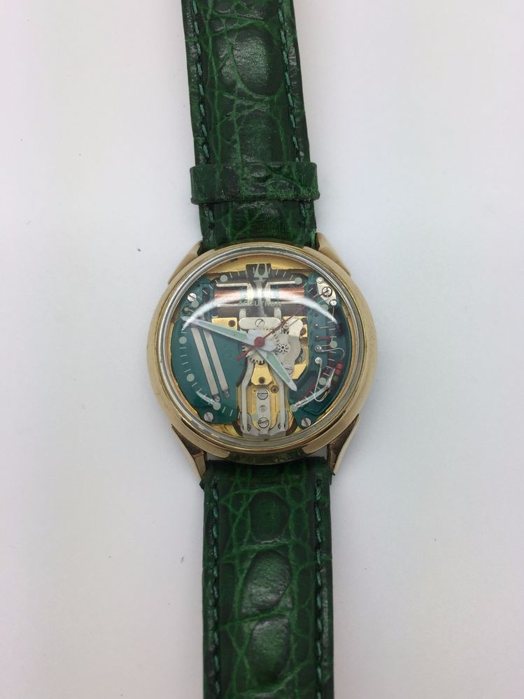1970 Bulova Accutron Spaceview Watch RARE with ORIGINAL BAND working ...