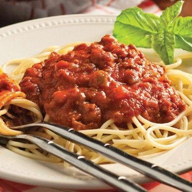 Sauce à spaghetti aux trois viandes - Recettes - Cuisine et nutrition - Pratico Pratique