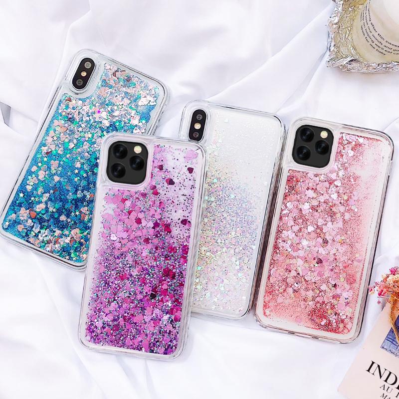 Apple Iphone 11 Pro Max Glitter Silicone Transparent Cover Case Iuzcases Glitter Iphone Case Liquid Iphone 11 Iphone