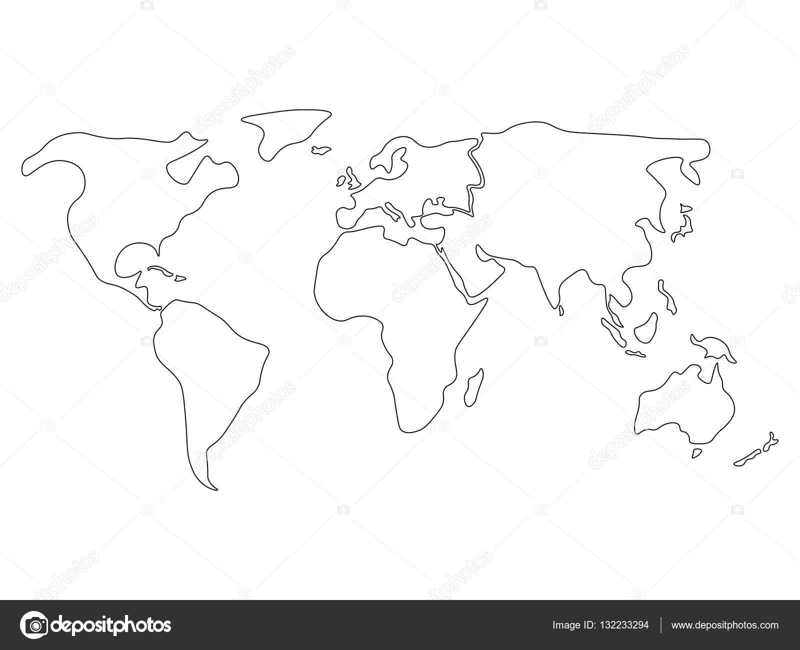 Simple World Map Outline simple outline of the world good maps world map outline contin