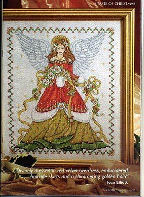Punto de Cruz GRATIS: Angel de la Navidad