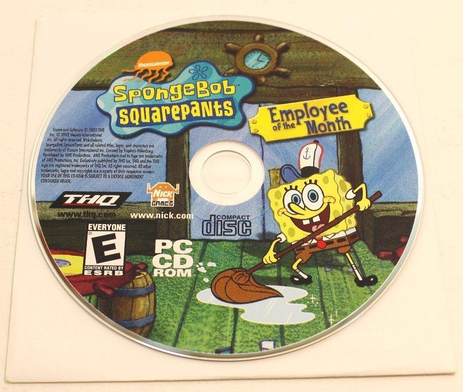 Sponge Bob Squarepants Employee of The Month PC Game Disk