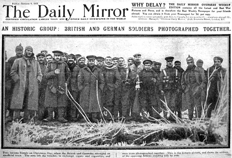 christmas truce of 1914 daily mirror