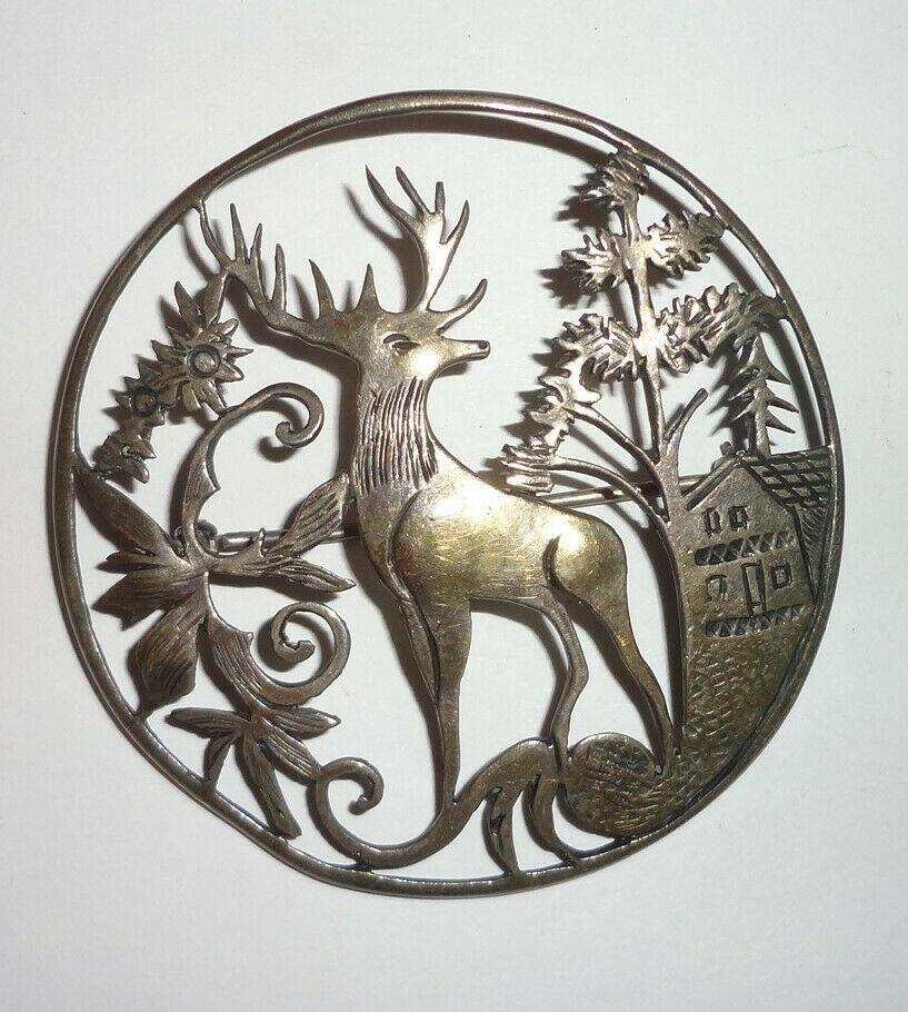 New Stag Deer Brooch RRP £12 Stunning........