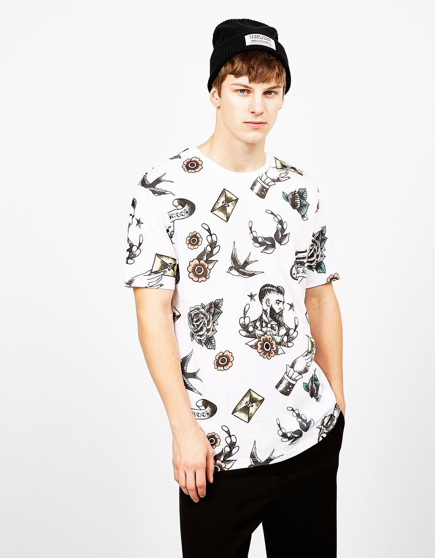 Bedrucktes shirt 39 old school 39 t shirts bershka germany aop pinterest portugal - Comprar ropa en portugal ...