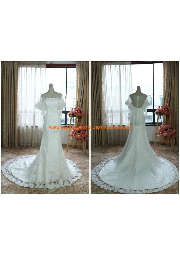 Trendige Sexy Brautkleider 2013 aus Organza mit Applikation