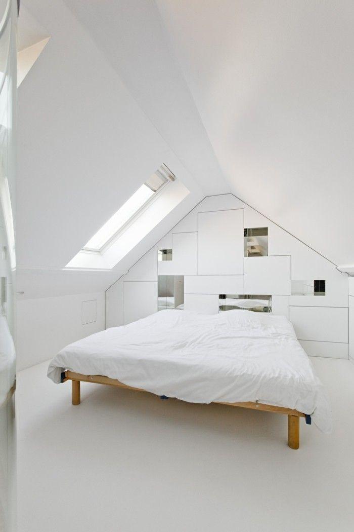 bett ohne kopfteil weißes schlafzimmer gestalten   Schlafzimmer ...