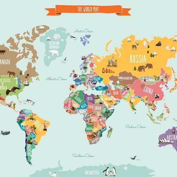 Discover notable landmarks and animals on each continent in our discover notable landmarks and animals on each continent in our countries of the world map poster gumiabroncs Images