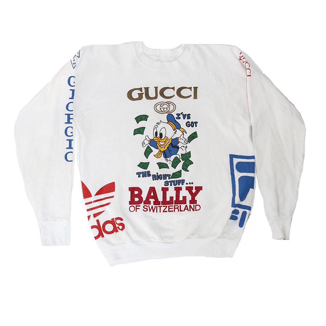 31f0ff3e170 Vintage Ultimate Bootleg Logo Donald Duck Gucci Sweatshirt (4.926 ...