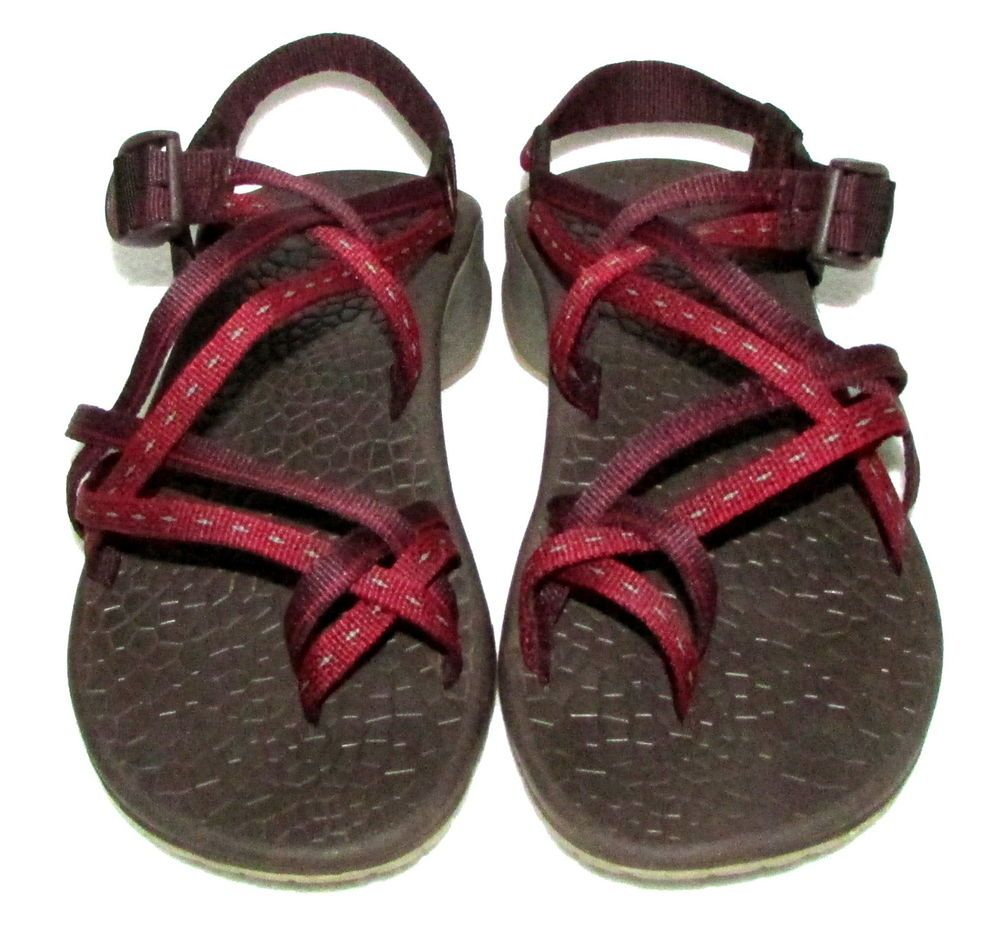 f5dac8a2d195 CHACO Z 2 UNAWEEP NYLON Red Chili HIKING SPORT SANDALS SIZE 6 NEW