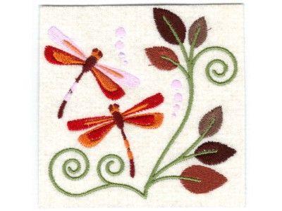 Jacobean Dragonflies Machine Embroidery Designs Httpwww