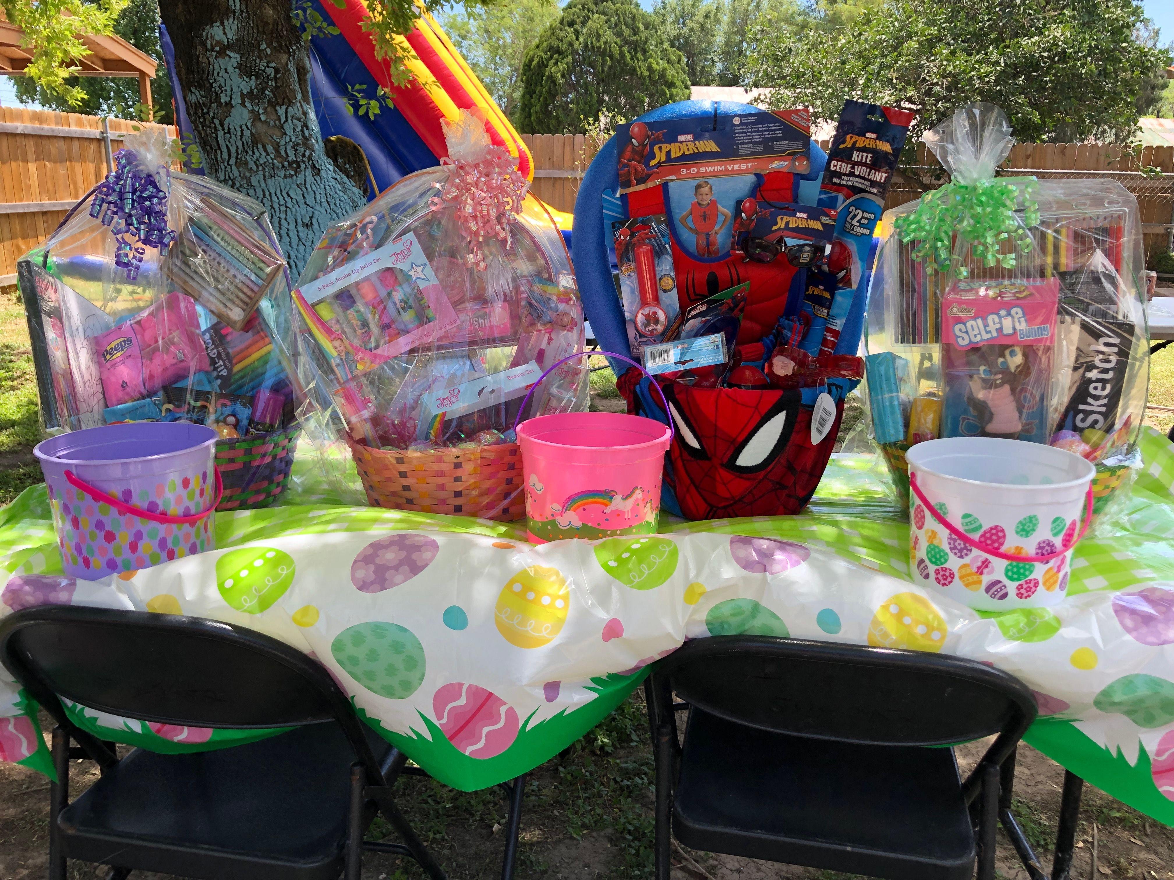 Easter baskets family easter party easter basket diy