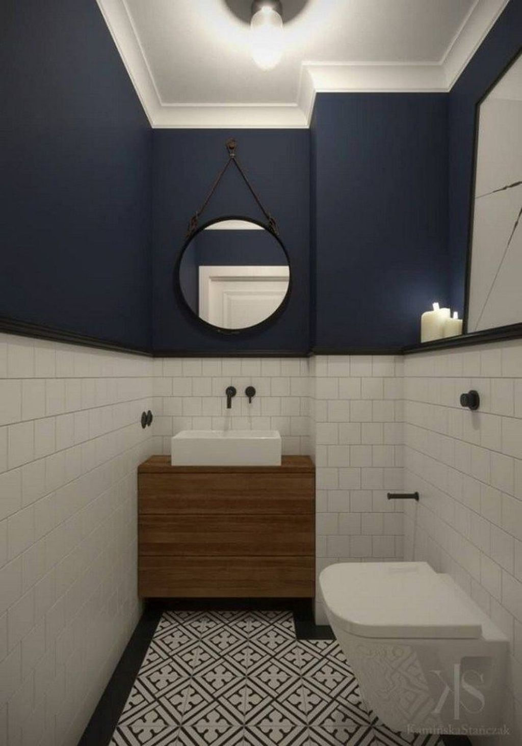 40+ Stunning Small Bathroom Makeover Ideas That Trendy Now #downstairsloo