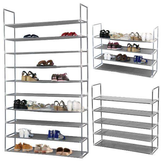 yahee 10 schicht schuhregal schuhschrank schuhablage schuhe diy 175 cm x 100 cm x 29 cm. Black Bedroom Furniture Sets. Home Design Ideas