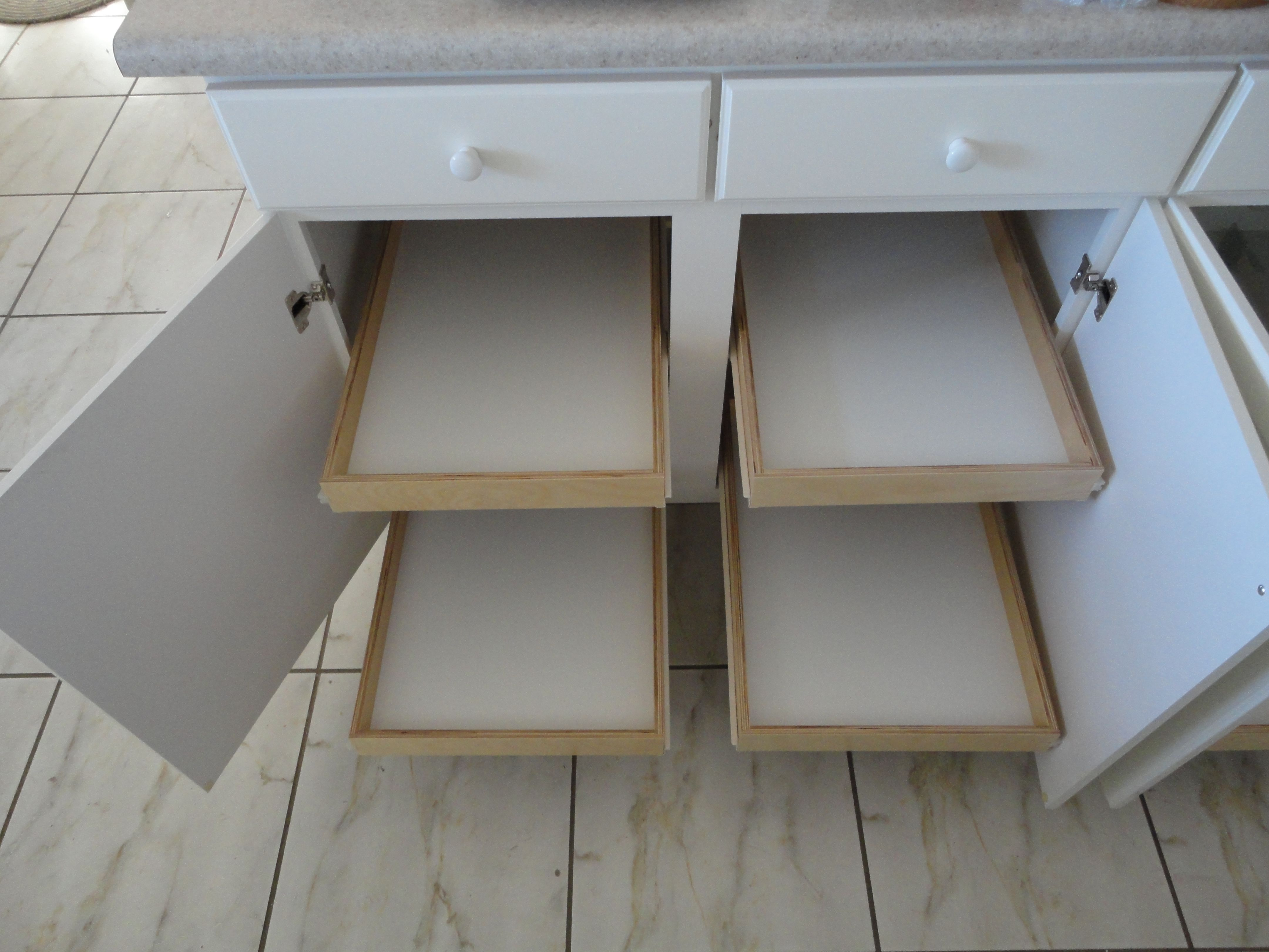 Pull Out Shelves By Slideoutshelvesllc Com In White Kitchen Cabinets Shelves Pull Out Shelves Kitchen Cabinets In Bathroom