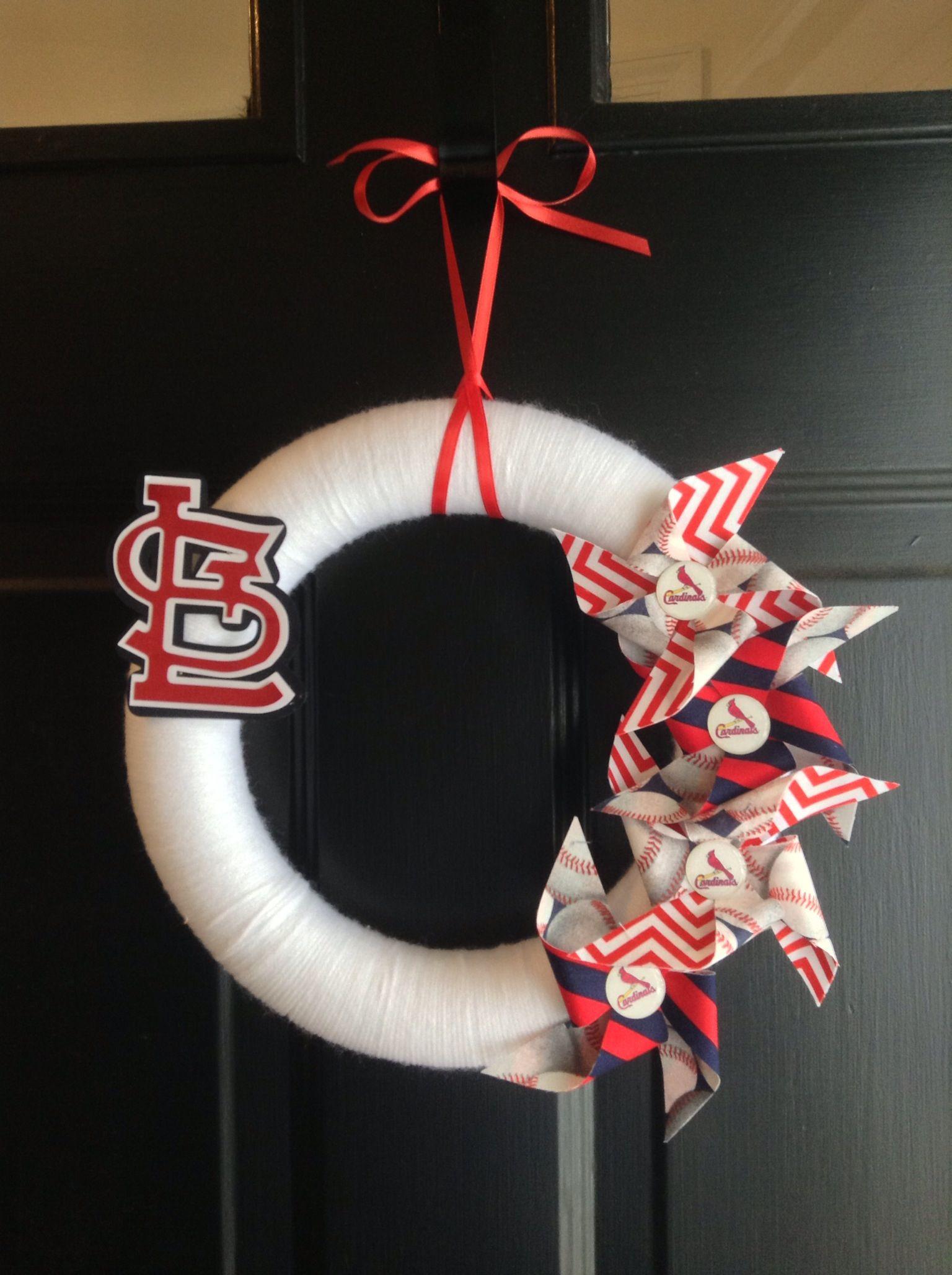 St Louis Cardinals Wreath $30 A New Item I Made