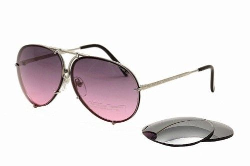 db775a21593cb9 Porsche Design P 8478 P8478 M Gunmetal (Grey) Pilot Sunglasses 69mm W Extra  Lenses