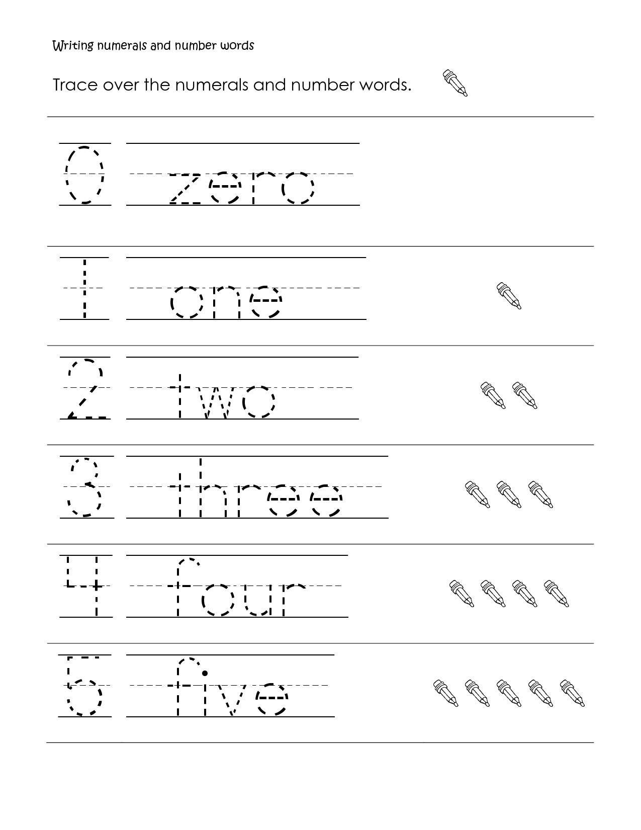 first grade math | First Grade Math worksheet, writing numbers and ...