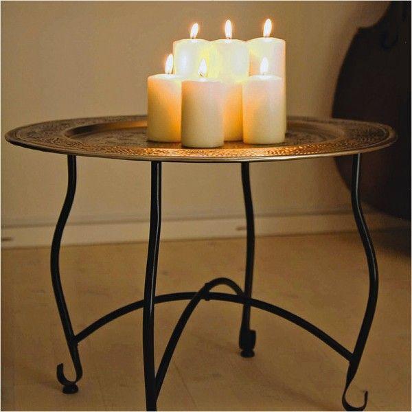Terrassentisch Tisch Marokko Kerzen Orientalisch Metalltisch