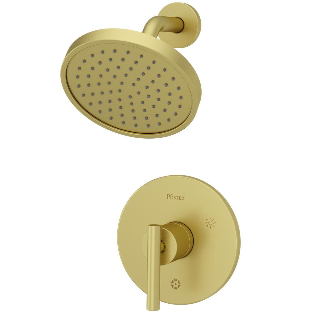 Pfister Contempra 1 Handle Shower Faucet Trim In Brushed Gold