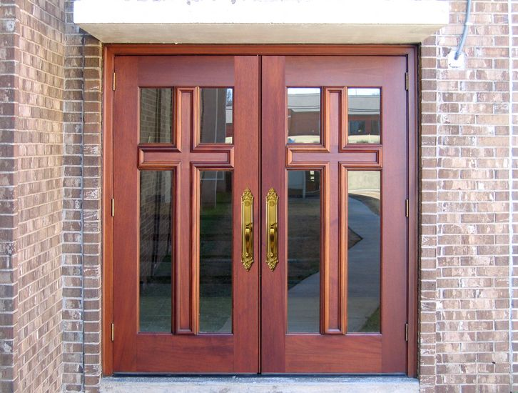 Custom Church Doors With Custom Cross Wood Entry Doors By Decora