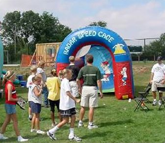 Inflatable Radar Speed Pitch Baseball Throw Rental Iowa City Ia Pitch Iowa City Speed