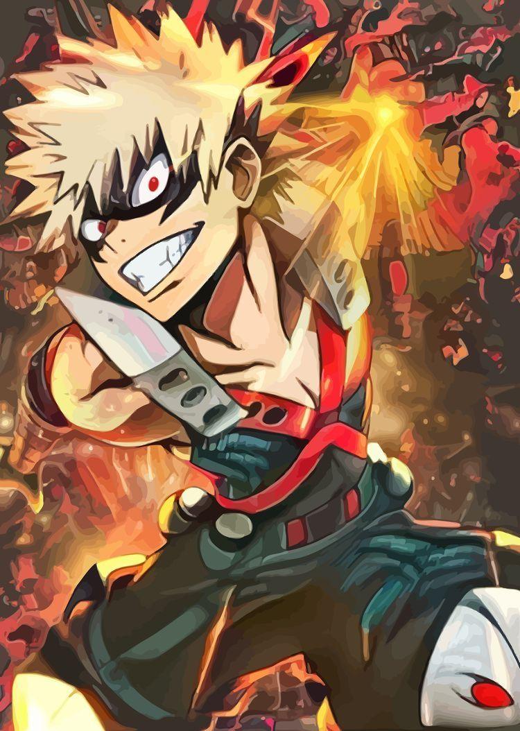 Make your device cooler and more beautiful. Bakugou Kacchan My Hero Academia Manga Anime Hero Academia