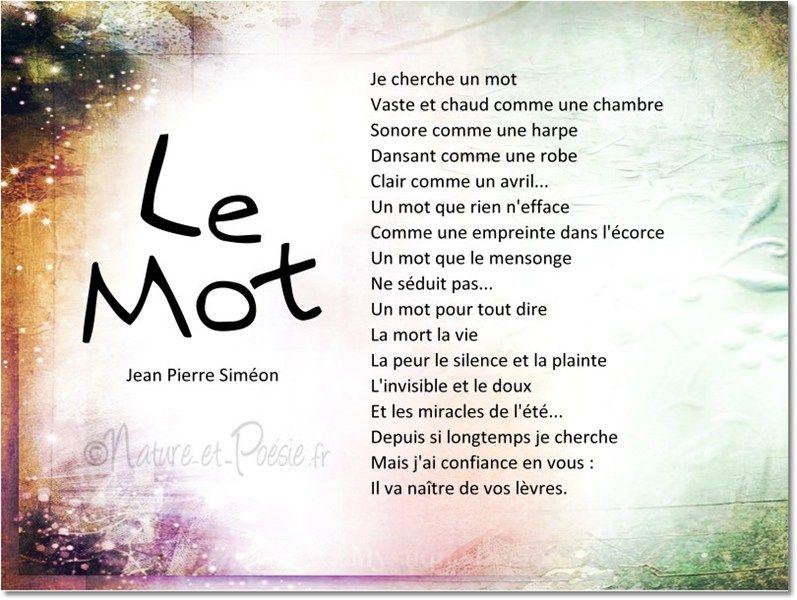 Le Mot Jean Pierre Simeon Citations Poeme Et Citation
