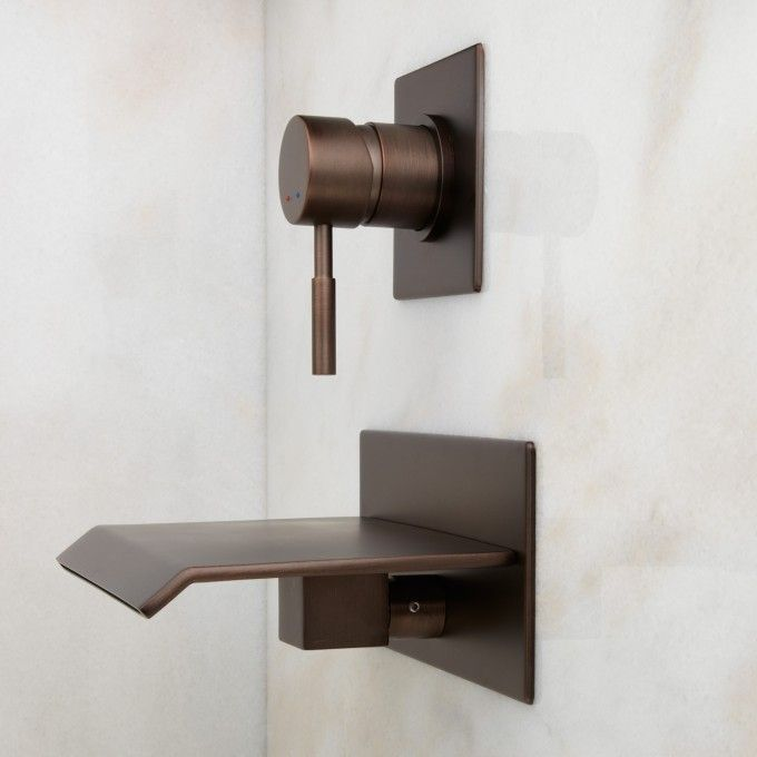 Lavelle Wall Mount Waterfall Tub Faucet Oil Rubbed Bronze